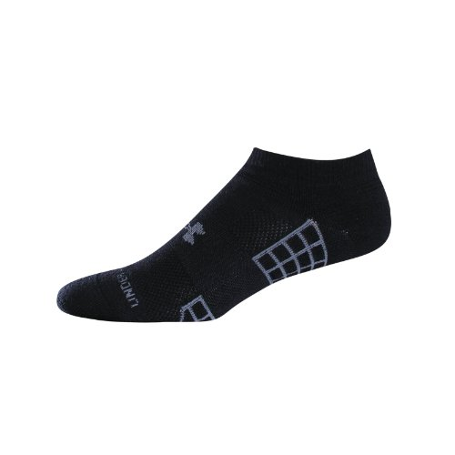 Under Armour Men's HeatGear® III No Show 2-Pack Socks by Under Armour Large Black