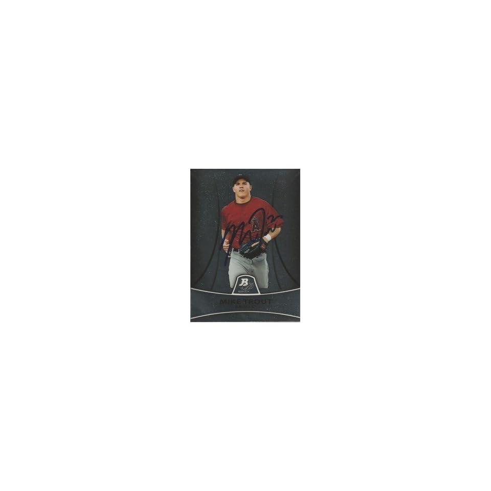 Mike Trout Signed L.A. Angels 2010 Bowman Platinum Card