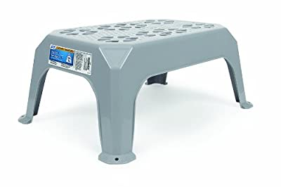 Camco 43470 Plastic Step Stool (Large, Gray)