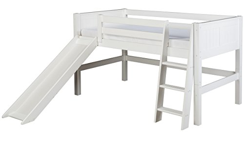 Low Loft Bed With Storage 9841 front