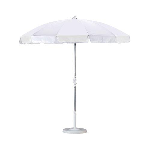 California Umbrella 8-1/2-Foot  Aluminum Patio Umbrella, White