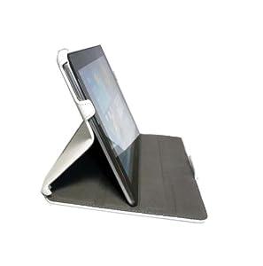 Tourner Tournante Etui-housse en cuir pour Samsung Galaxy Tab 2 P5110 - (blanche)