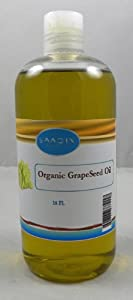 Grapeseed Oil - 100% Pure and Organic 16 Oz