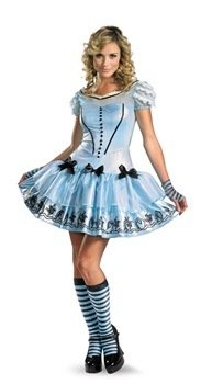 Sassy Alice In Wonderland Child Costume Size 4-6 Small
