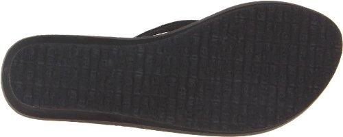 Sanuk Women's Yoga Spree Wedge Sandal,Black,8 M US