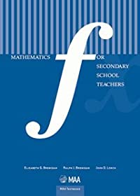 MATHEMATICS FOR SECONDARY SCHOOL TEACHERS