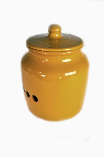 Terafeu Hand Made Pottery Onion Pot, Dijon Honey