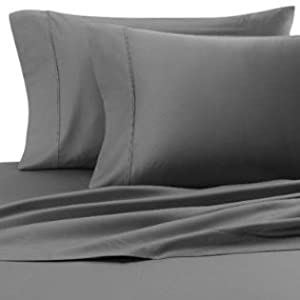 Amazon.com - 500 Thread Count Egyptian Cotton Solid Elephant Grey