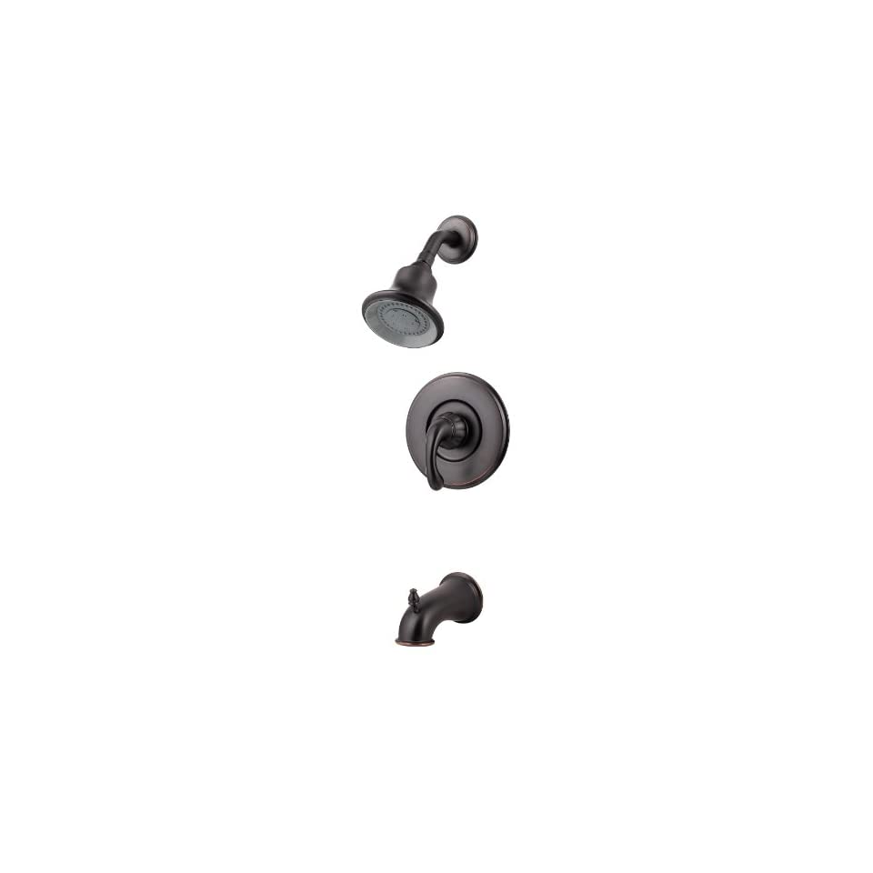 Pfister 808 DY00 Treviso Single Handle Tub/Shower Faucet, Tuscan Bronze