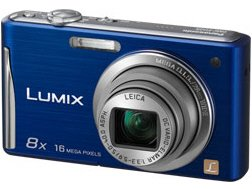 New PANASONIC CONSUMER 16.1MP/2.7IN LCD/8ZOOM/720PHD RECO/A Blue 28mm Wide-Angle 1 LEICA DC Lens