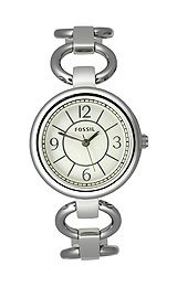 Fossil Women's Silver-link Adjust-O-Matic watch #ES2279