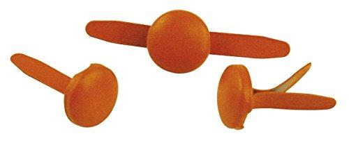 Rayher - 7939334 - tachuelas, redondo, diámetro 8 mm, diseño 60 pcs, Naranja