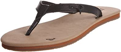 Roxy XIWSL194 - Sandalias de ante para mujer, color negro, talla 37