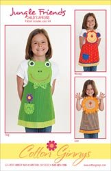 Cotton Ginnys Patterns Jungle Friends Aprons; 3 Items/Order