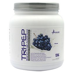 Metabolic Nutrition Tri-Pep BCAA 400 gm (40 servings), BCAA'S (Grape)