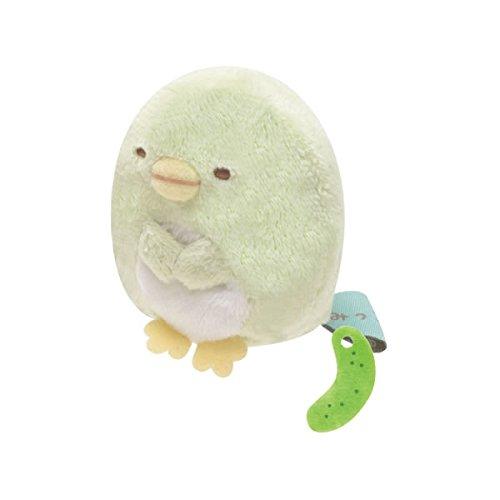 San-x Sumikko Gurashi Plush 2'' Penguin? w/ Mini Cucumber - 1