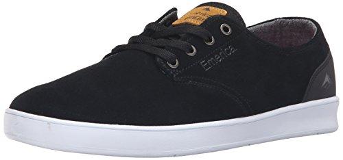 Emerica Men's the Romero Laced Skateboarding Shoe, Black/Black/White, 9.5 M US