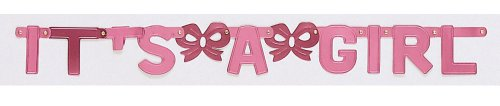 Creative Converting Baby Shower it's a Girl Jointed Banner - 1
