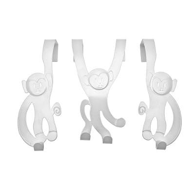Monkey Door Hanger (White)