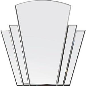 Olivia Art Deco Wall Mirror - Silver (228232544)