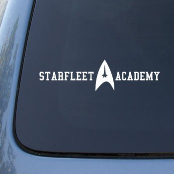STARFLEET ACADEMY ALUMNI - Car, Truck, Notebook, Vinyl Decal Sticker #2169 | Vinyl Color: White