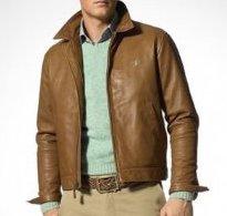 Leather Bradford Jacket Polo Lauren Lambskin Ralph 3RL5Aj4