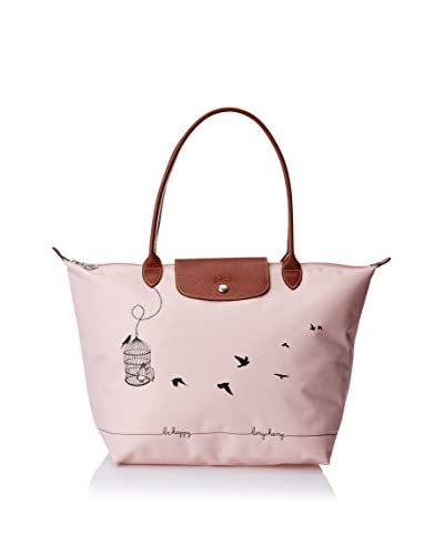 Longchamp Women's Le Pliage Cage Aux Oiseaux Tote Bag, Rose Pale