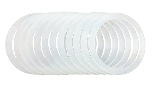 12 Silicone Gasket Sealing Rings For Mason Jar/Ball Plastic Storage Cap, Reusable Food-Grade Airtight Rubber Seal For Caning Jar Plastic Lids (12 REGULAR MOUTH) (Mason Jar Plastic Ring compare prices)