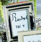 Silver Celebrations Mini Photo Frame Place Card Holder 10 Piece Favor Set for Wedding Reception Tables
