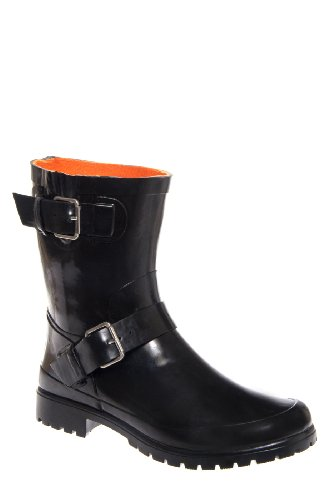 Sperry Top Sider Falcon Motorcycle Low Heel Buckled Rain Boot