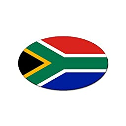 South Africa Flag Oval Magnet