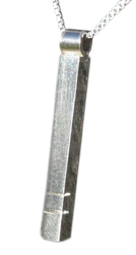 Handmade 925 sterling silver bar pendant / necklace - FREE Delivery in UK - Gift Wrapped - Gifts