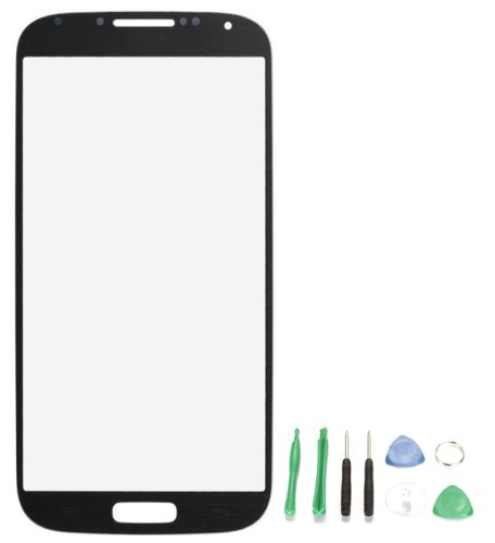 Replacement Glass For Samsung Galaxy S4 Mini I9500 I9190 I9195 I9192 - Free Tools Black