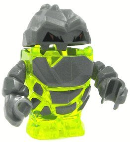 Rock Monster Sulfurix (Trans-Neon Green) - LEGO Power Miners Minifigure - 1
