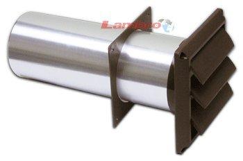 "Lambro Industries, Inc.-4"" Brown Plastic Louver Vent W/ Standard Tail Piece (Price Per Piece). Item #267B front-465264"
