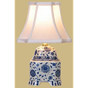 Blue & White Porcelain Cover Jar Lamp