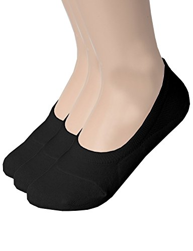 Zando Women's Casual Anti Slip Low Cut Solid Color Flat Ankle Line Socks 3 Pairs Black S Rugged Cut Off Short
