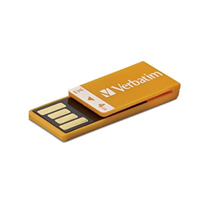 Verbatim Clip-IT 4 GB USB 2.0 Flash Drive 97551 (Orange)