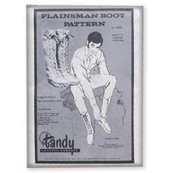 Tandy Leather Plainsman Boot Pattern Pack