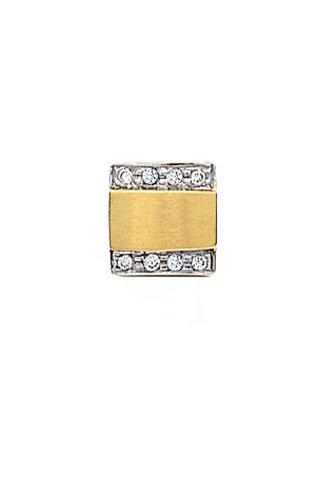 14K Yellow Gold Diamond Tie Tac with .07 ct. diamonds-86538