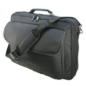 "Quality Black Polyester 16.4"" , 17"" , 19"" (18.4"" widescreen) Notebook / Laptop bag / case from UKSC"