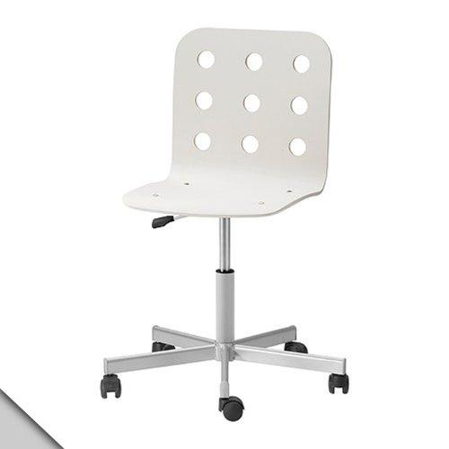 sm land b na ikea jules swivel chair white silver