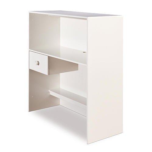 South Shore Logik Loft Desk With Hutch Pure White front-850911