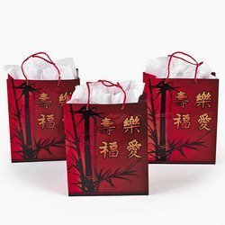 Chinese New Year Gift Bags With Handles (1 Dozen)