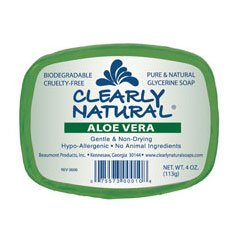 Clearly Natural- Glycerine Soap, Aloe Vera 4 oz (8 pack)