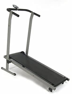 Stamina InMotion Manual Pewter Grey Black Treadmill