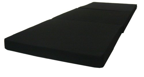 Brand New Solid Black Shikibuton Tri fold Foam Beds 3