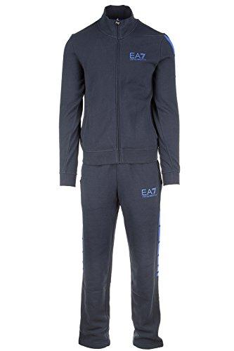 Emporio Armani EA7 tuta uomo fashion completo felpa pantaloni blu EU M (UK 38) 6XPM69 PJ07Z 1578