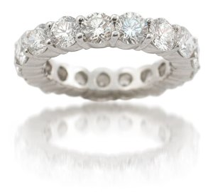 Diamond Platinum Eternity Wedding Band Ring