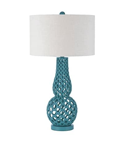 Horizons Chain Link Table Lamp, Blue